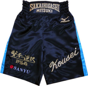 ボクシングの刺繍